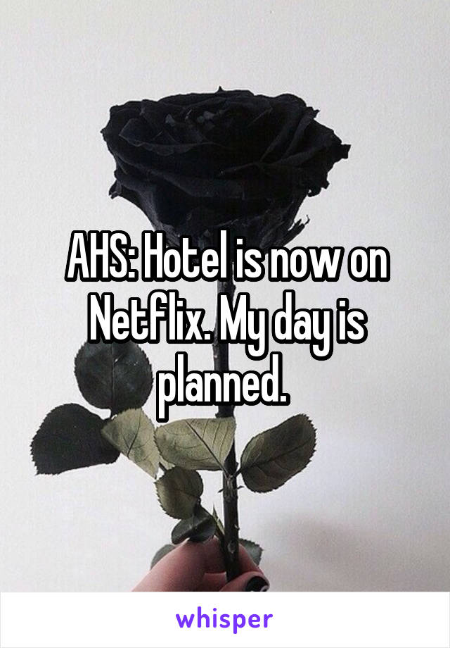 AHS: Hotel is now on Netflix. My day is planned.