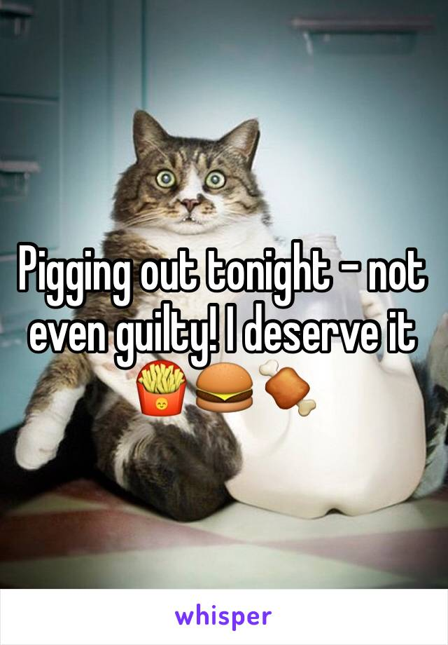 Pigging out tonight - not even guilty! I deserve it 🍟🍔🍖