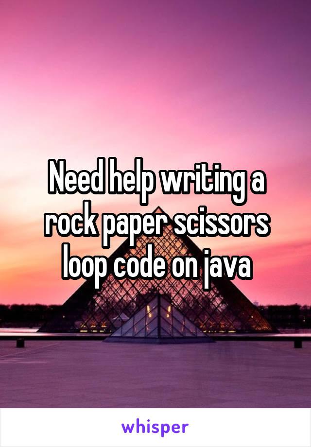 Need help writing a rock paper scissors loop code on java