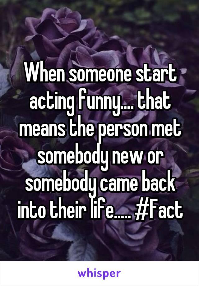 meet somebody new