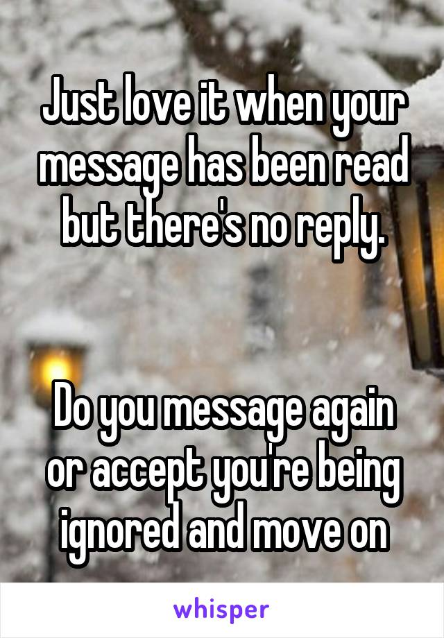 your message has been read