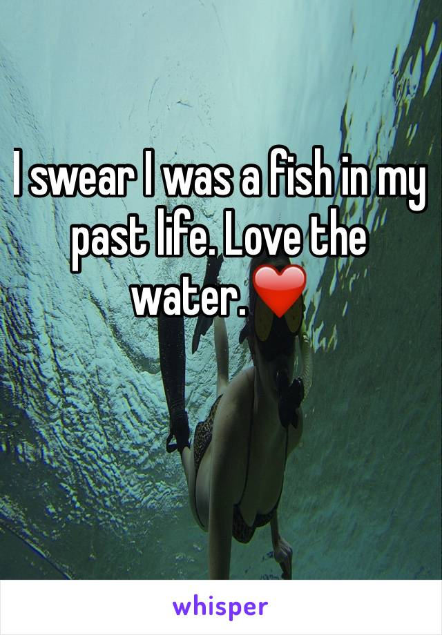 I swear I was a fish in my past life. Love the water.❤️