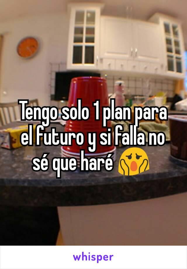 Tengo solo 1 plan para el futuro y si falla no sé que haré 😱