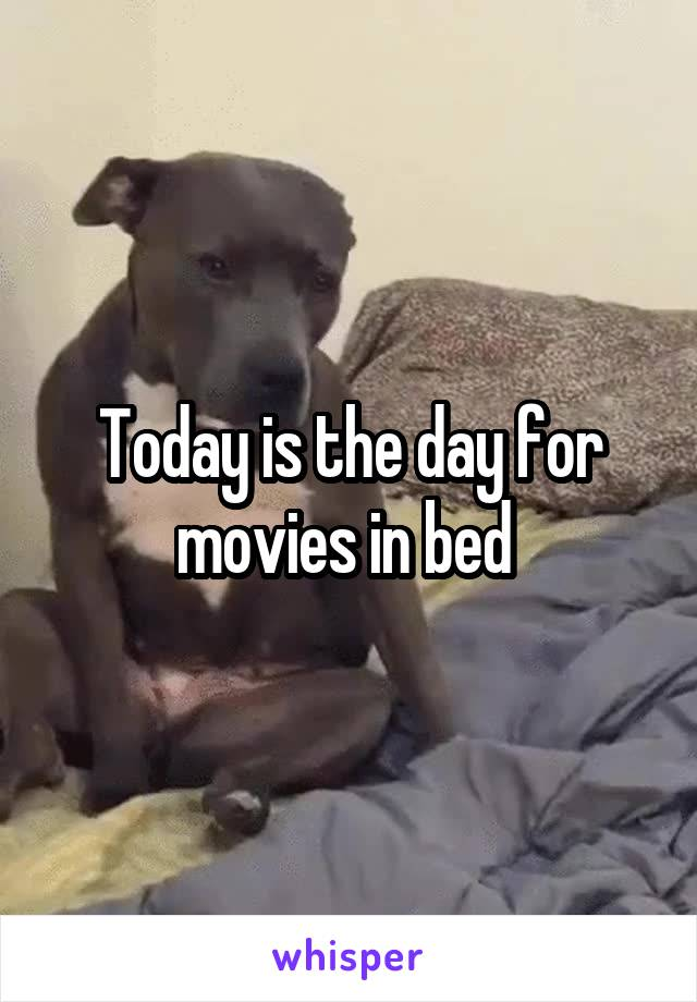 Today is the day for movies in bed