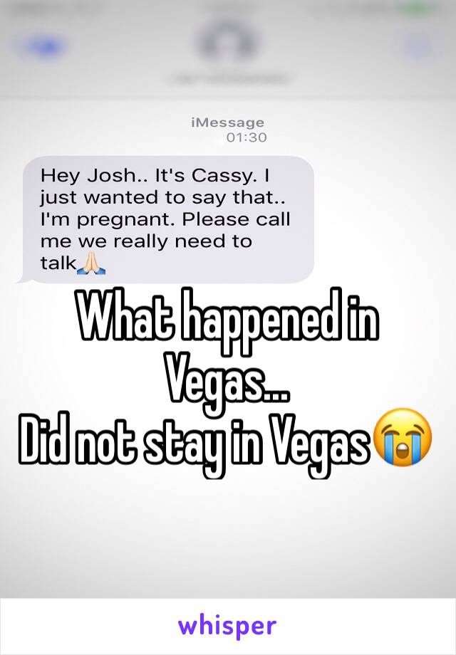 What happened in Vegas... Did not stay in Vegas😭