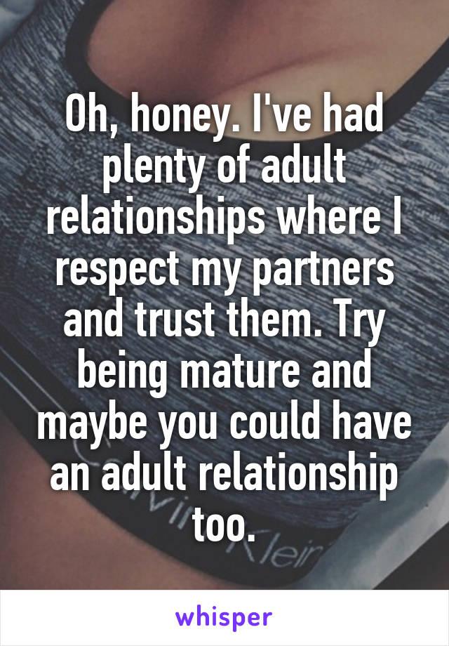 Mature Adult Relationships