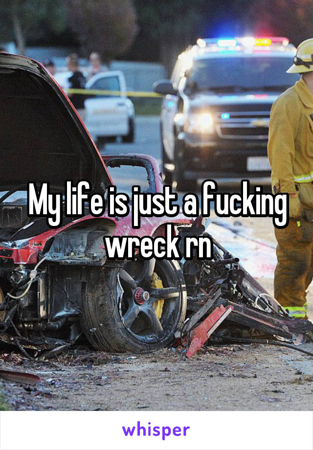 My life is just a fucking wreck rn