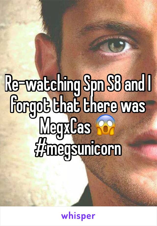 Re-watching Spn S8 and I forgot that there was MegxCas 😱 #megsunicorn