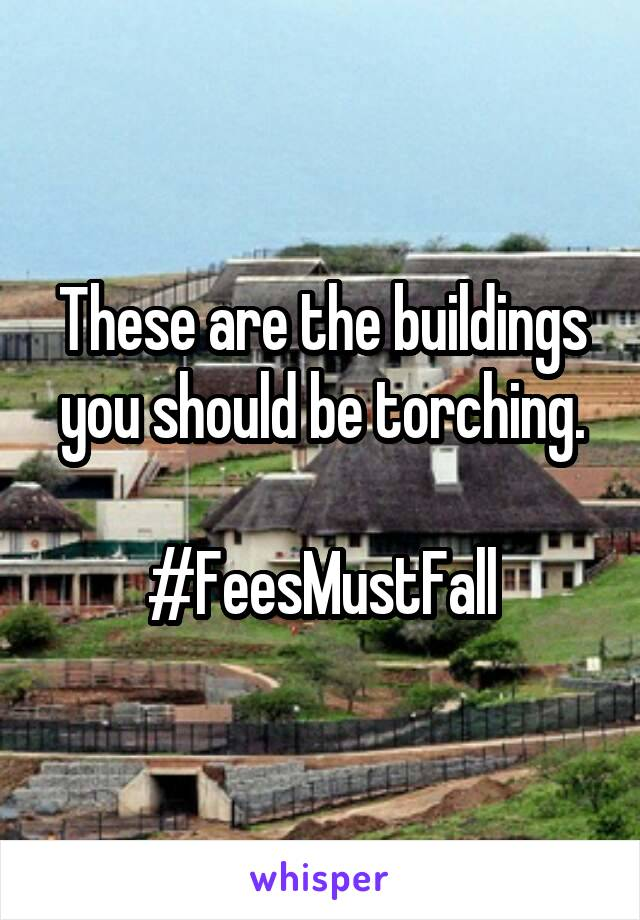 These are the buildings you should be torching.  #FeesMustFall