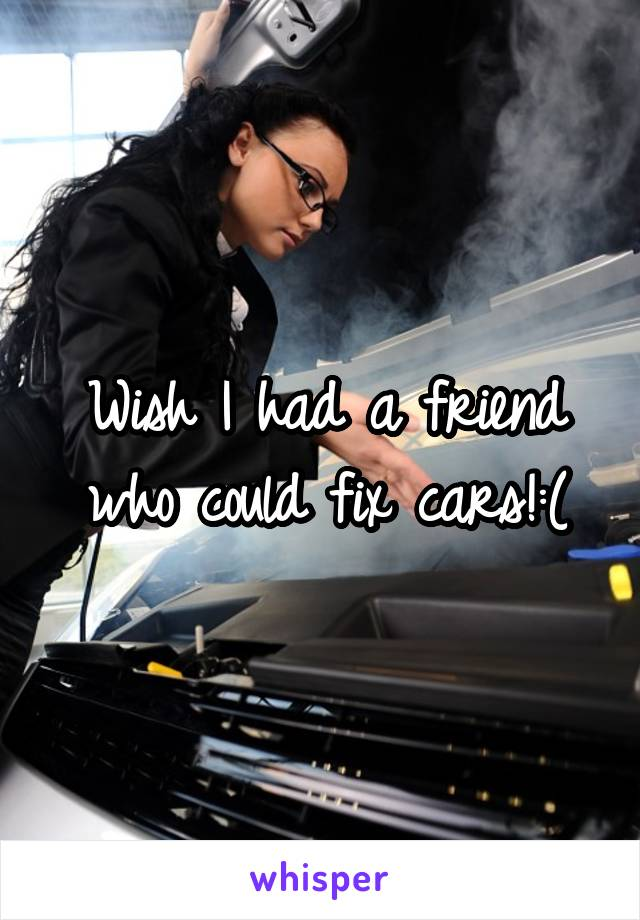 Wish I had a friend who could fix cars!:(