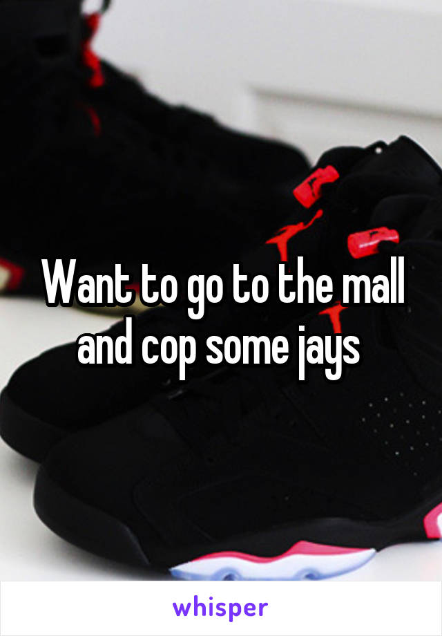 Want to go to the mall and cop some jays