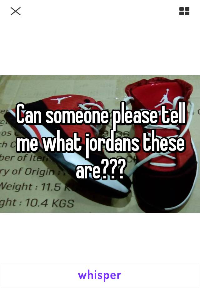 Can someone please tell me what jordans these are???