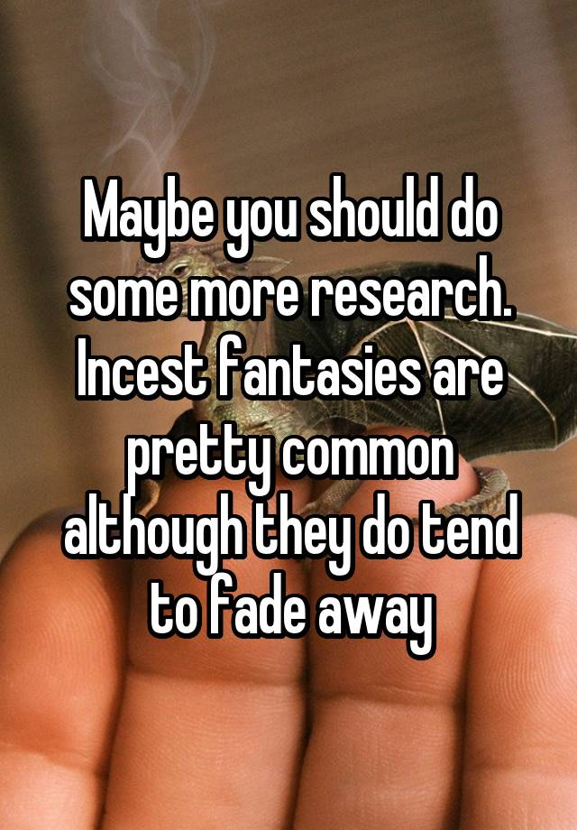 research on incest