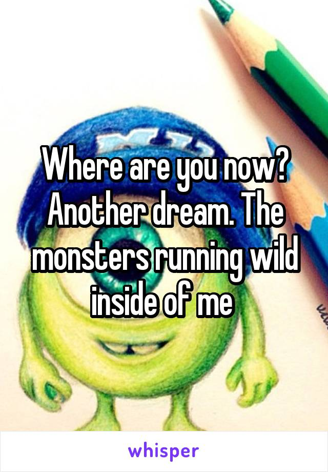 Where are you now? Another dream. The monsters running wild inside of me
