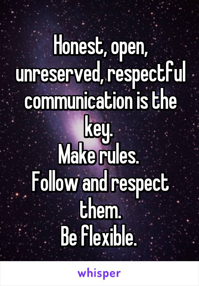 Honest, open, unreserved, respectful communication is the key.  Make rules.  Follow and respect them. Be flexible.