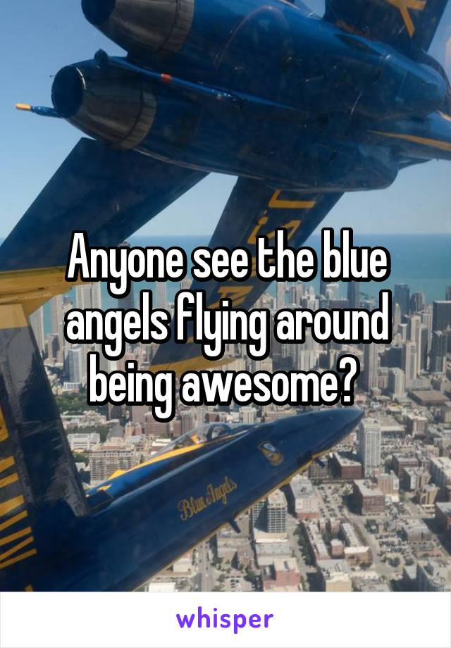 Anyone see the blue angels flying around being awesome?