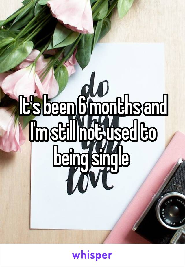 It's been 6 months and I'm still not used to being single