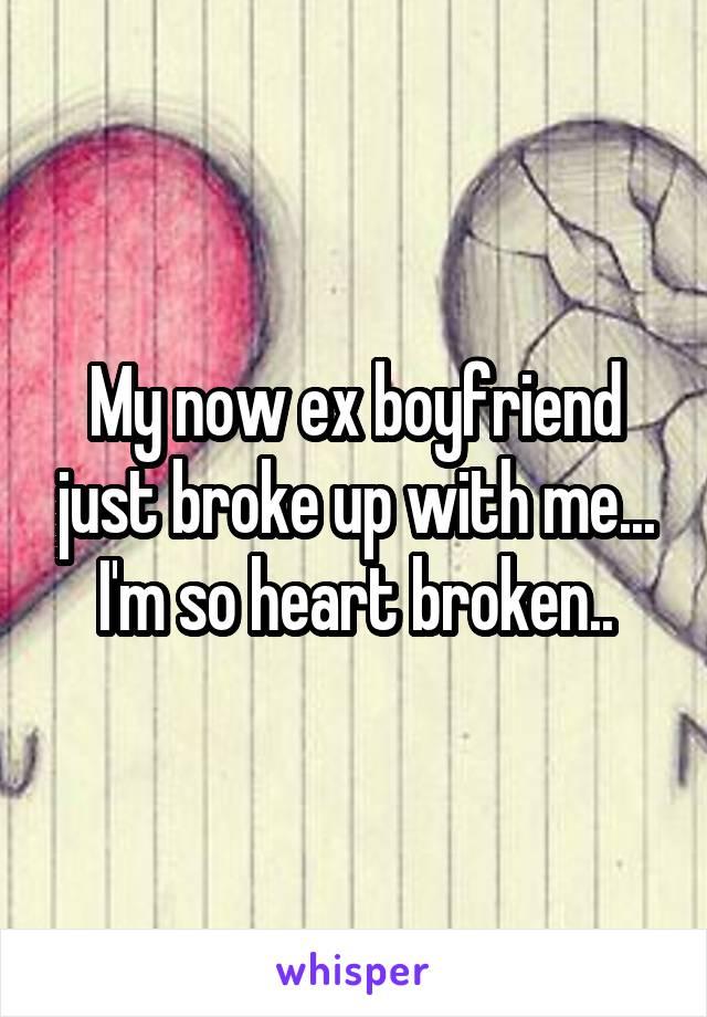 My now ex boyfriend just broke up with me... I'm so heart broken..