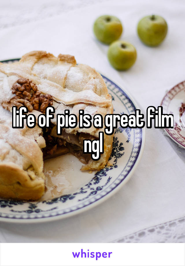 life of pie is a great film ngl