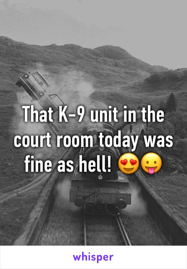 That K-9 unit in the court room today was fine as hell! 😍😛