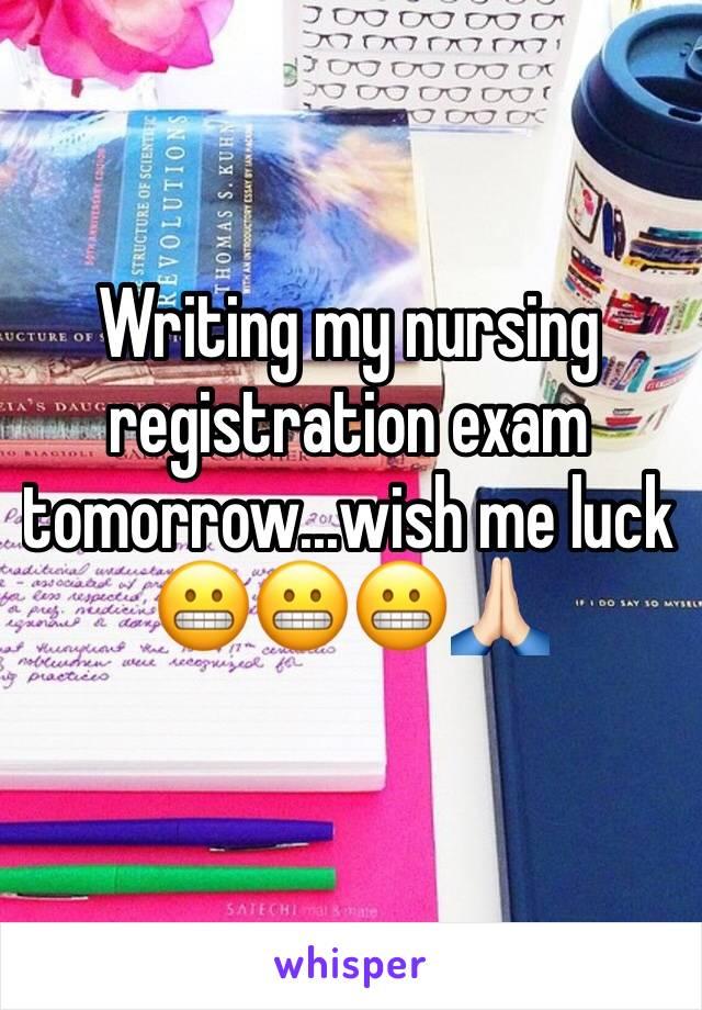 Writing my nursing registration exam tomorrow...wish me luck  😬😬😬🙏🏻