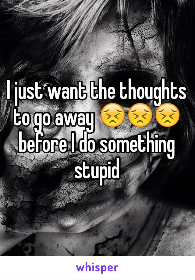 I just want the thoughts to go away 😣😣😣 before I do something stupid