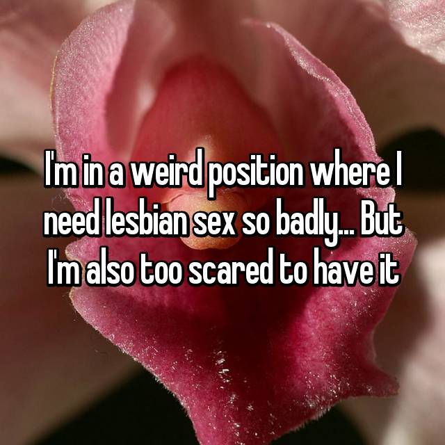 I'm in a weird position where I need lesbian sex so badly... But I'm also too scared to have it