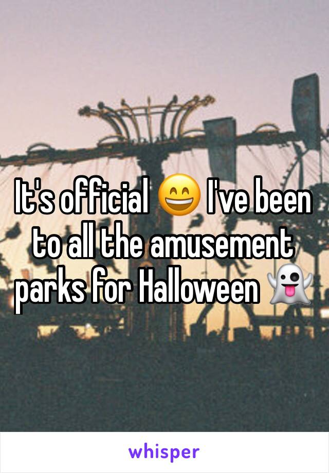 It's official 😄 I've been to all the amusement parks for Halloween 👻