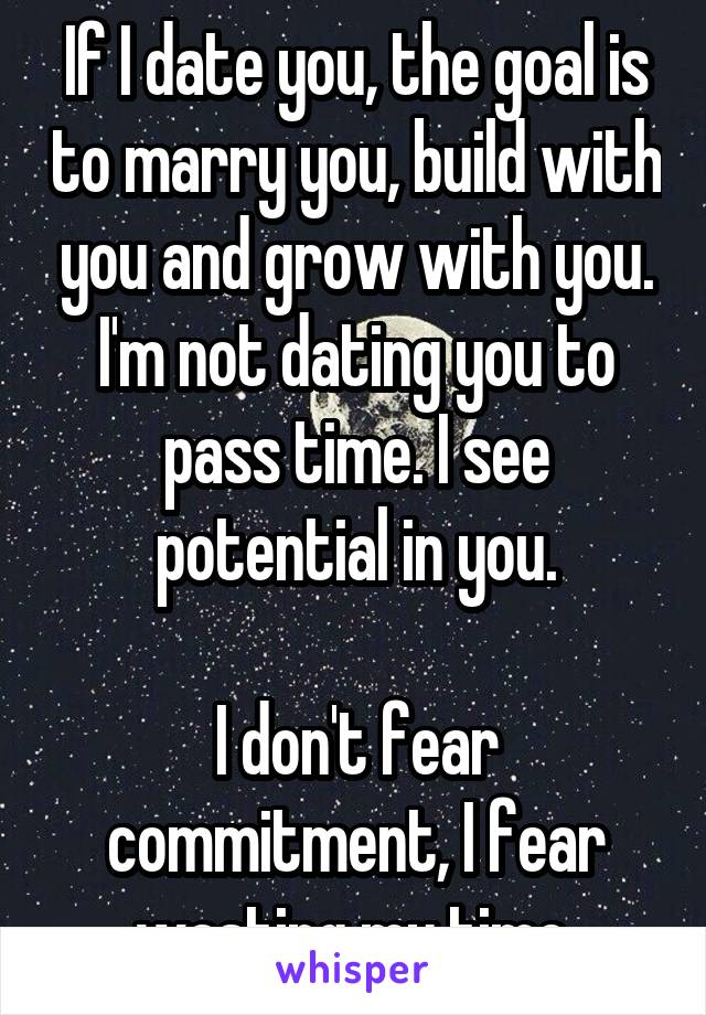 Dating someone who fears commitment