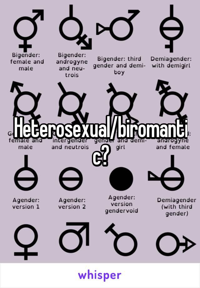 What is a heterosexual biromantic in love
