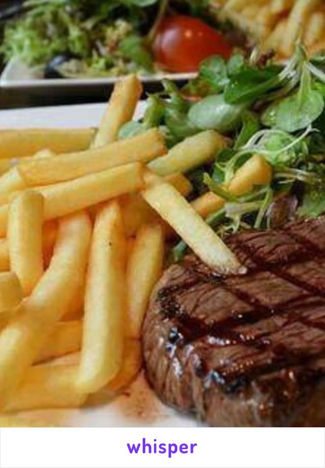 @ me gobbling up that rare steak...shocked myself.. I usually take it medium rare.