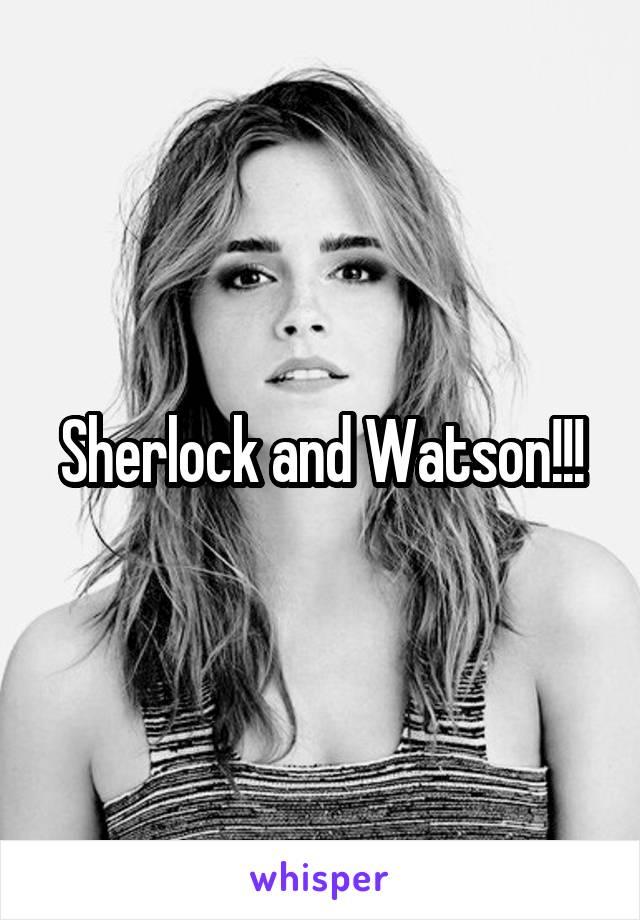 Sherlock and Watson!!!