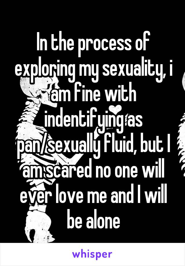 In the process of exploring my sexuality, i am fine with indentifying as pan/sexually fluid, but I am scared no one will ever love me and I will be alone