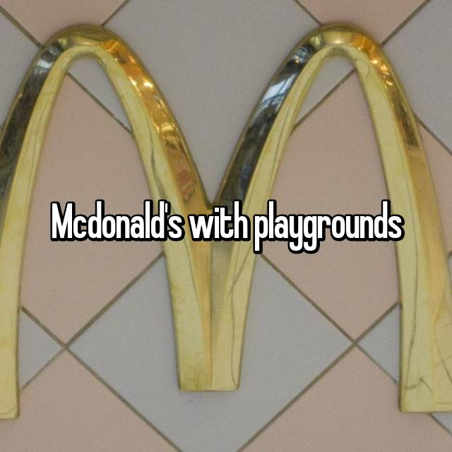 Mcdonald's with playgrounds