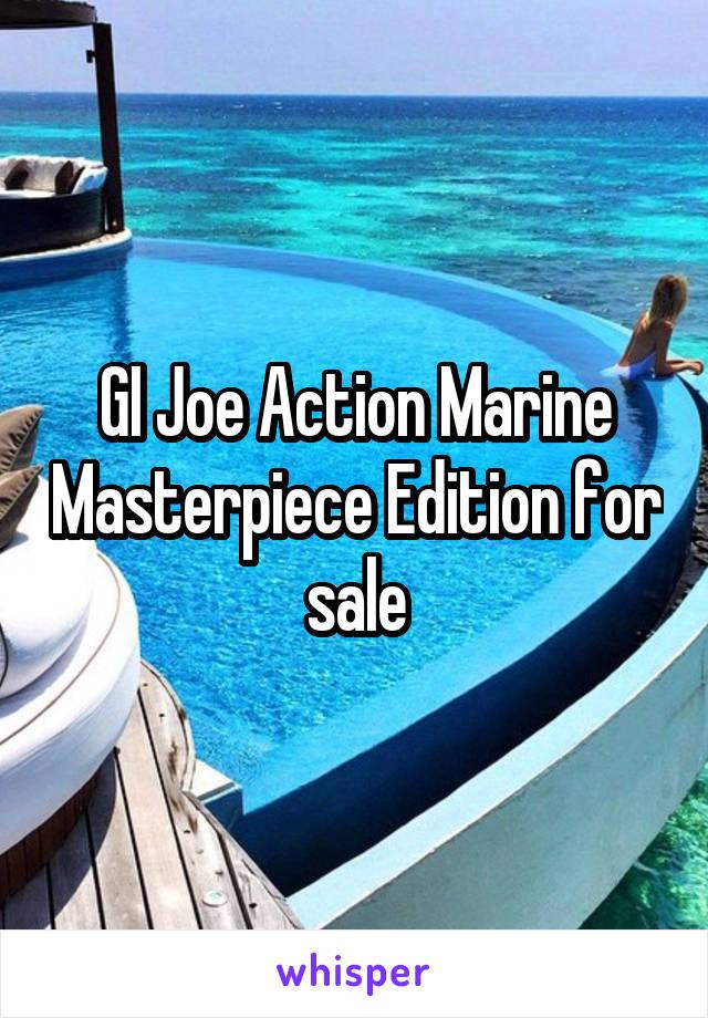 GI Joe Action Marine Masterpiece Edition for sale