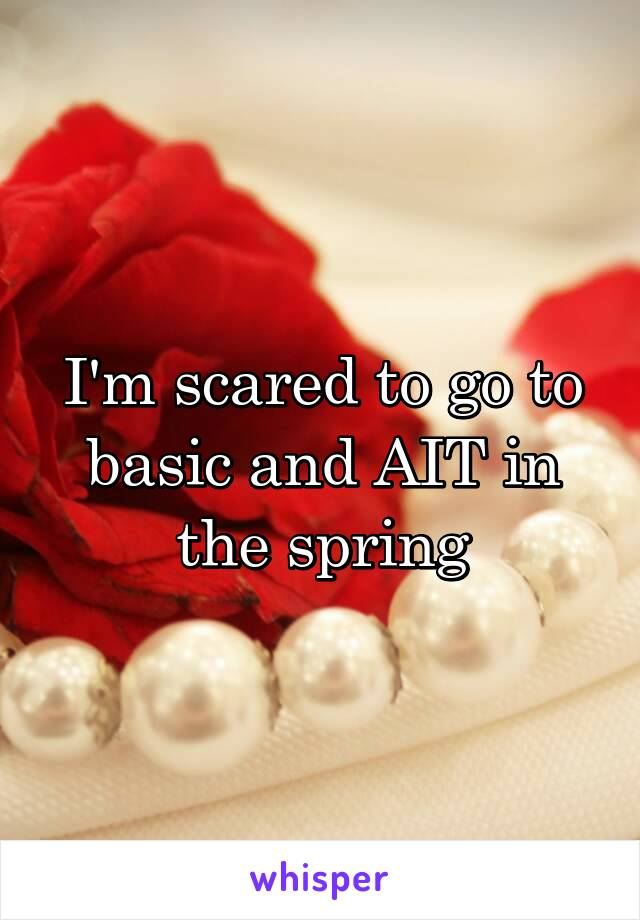 I'm scared to go to basic and AIT in the spring