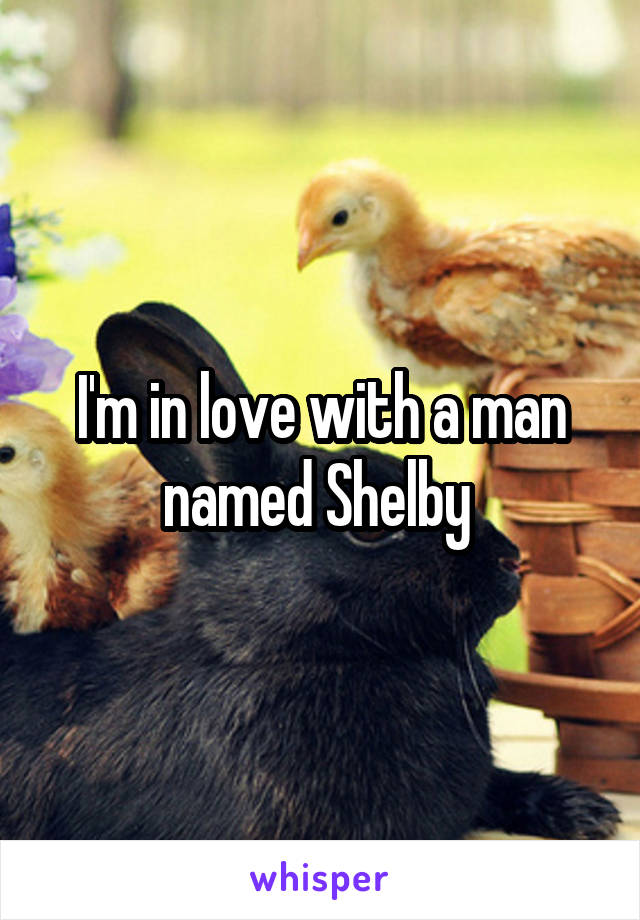 I'm in love with a man named Shelby