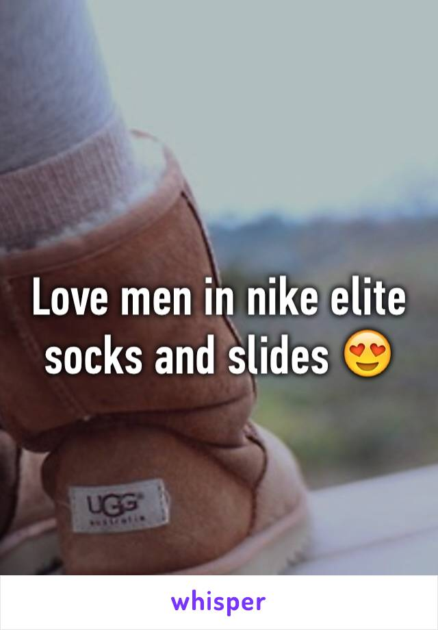 Love men in nike elite socks and slides 😍