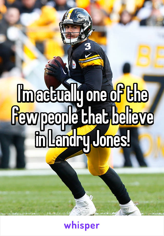 I'm actually one of the few people that believe in Landry Jones!