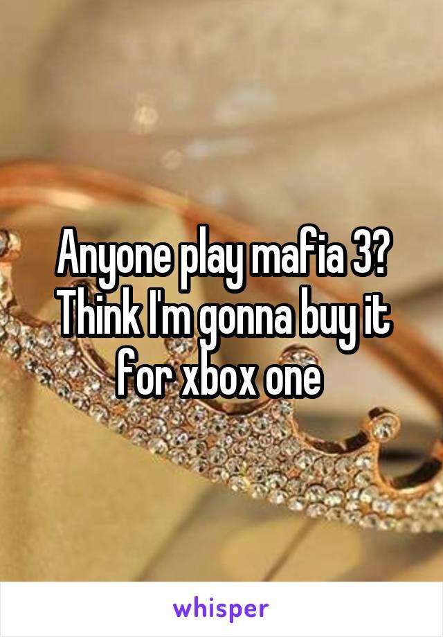 Anyone play mafia 3? Think I'm gonna buy it for xbox one
