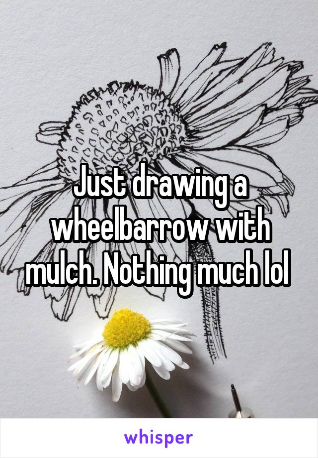 Just drawing a wheelbarrow with mulch. Nothing much lol