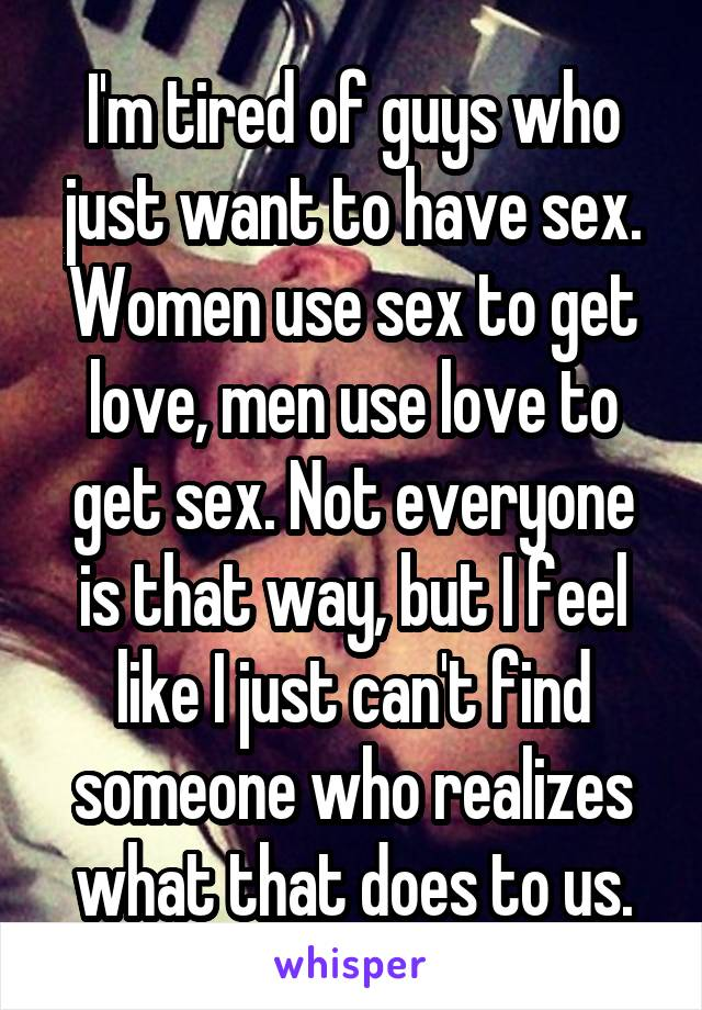 Find love sex use who woman