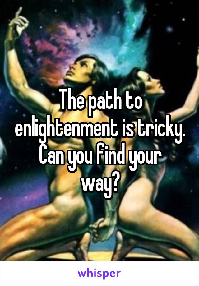 The path to enlightenment is tricky. Can you find your way?
