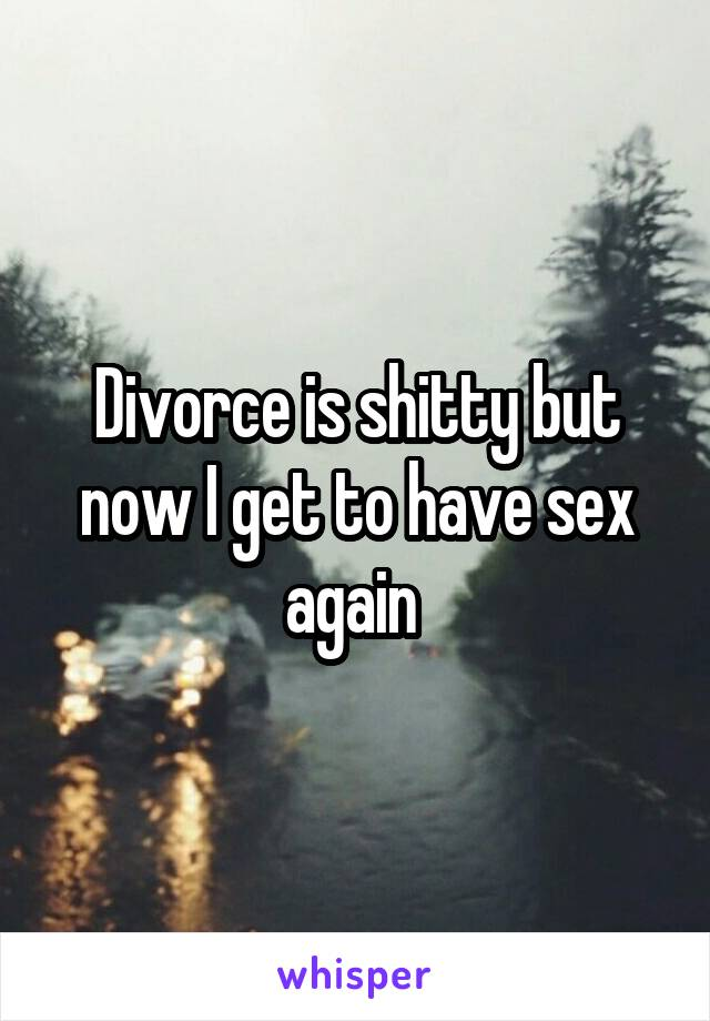 Divorce is shitty but now I get to have sex again