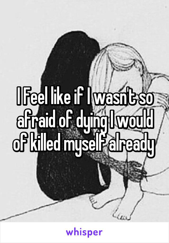 I Feel like if I wasn't so afraid of dying I would of killed myself already