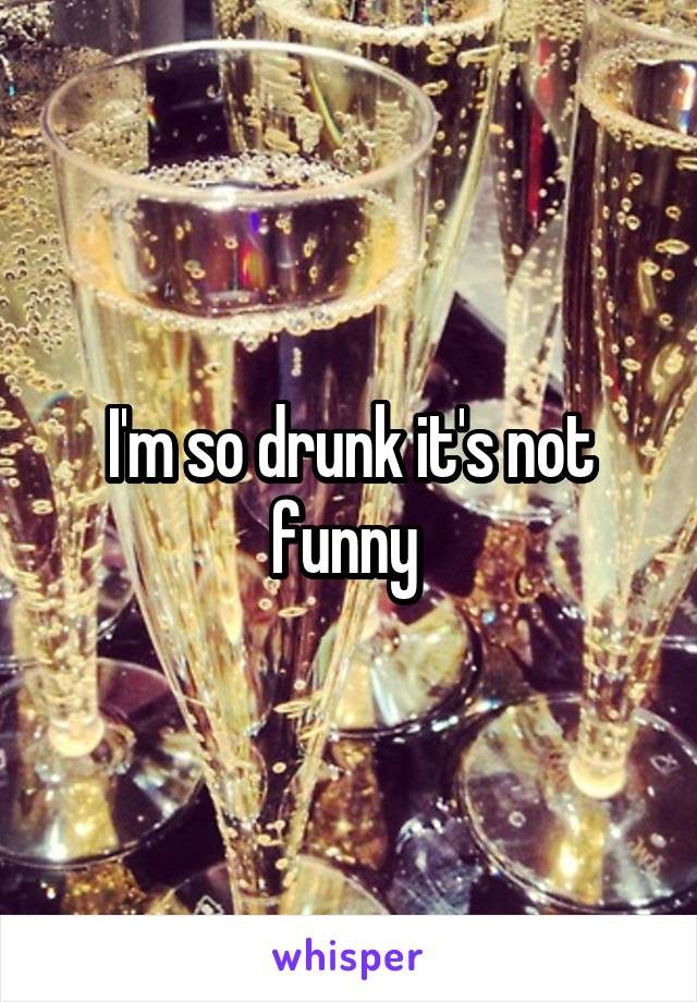 I'm so drunk it's not funny
