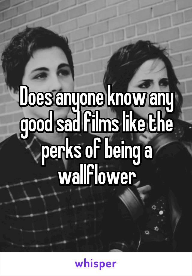 Does anyone know any good sad films like the perks of being a wallflower