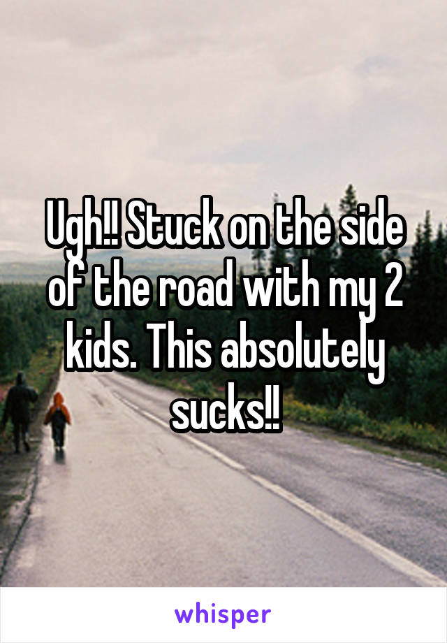Ugh!! Stuck on the side of the road with my 2 kids. This absolutely sucks!!