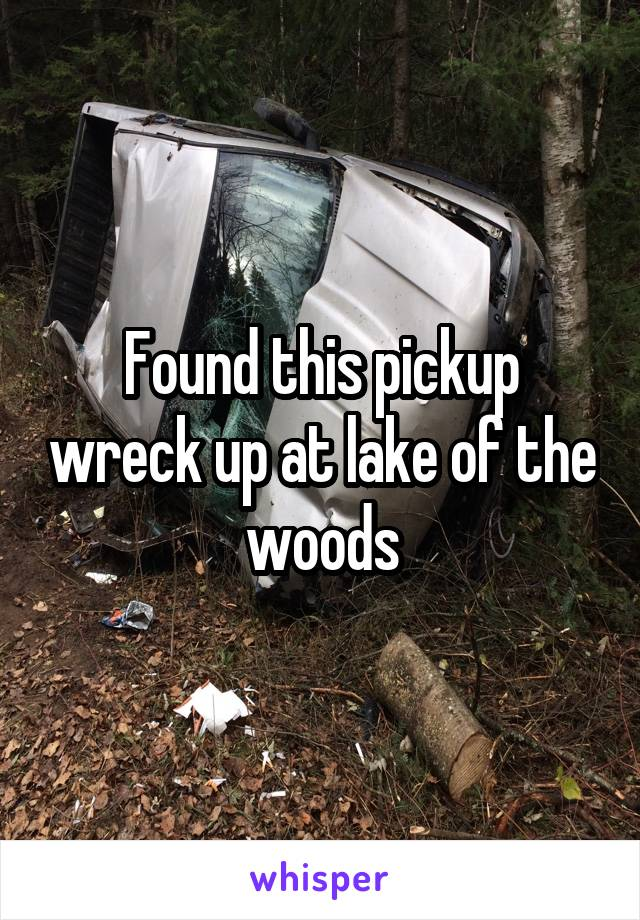 Found this pickup wreck up at lake of the woods