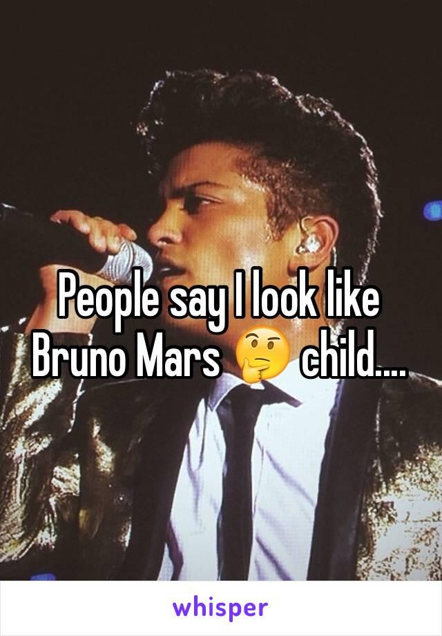 People say I look like Bruno Mars 🤔 child....